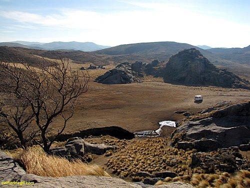 Point de vue depuis l'abri sous roche