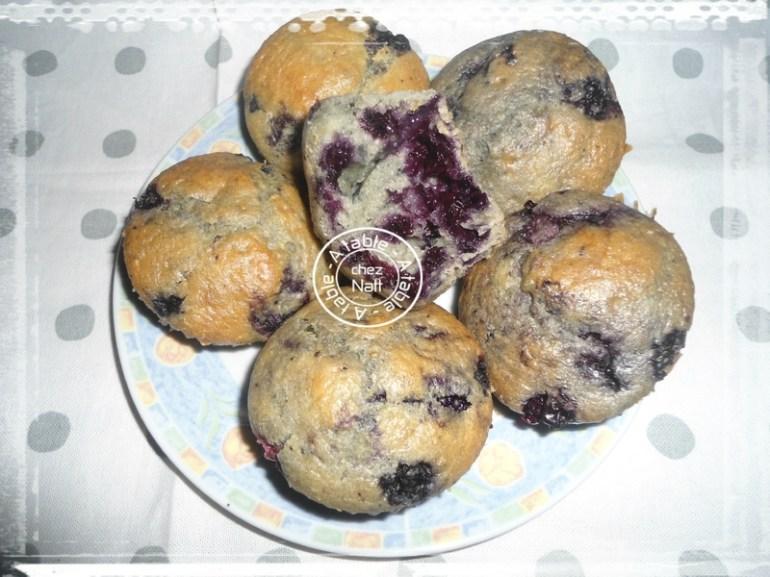 muffins aux myrtilles et orange