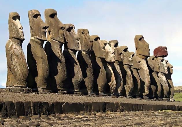 ile de paques statues