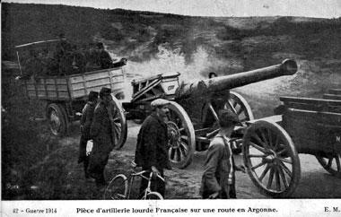 1ere guerre mondiale carte postale du front artillerie