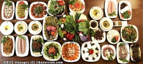 mezze libanais turc