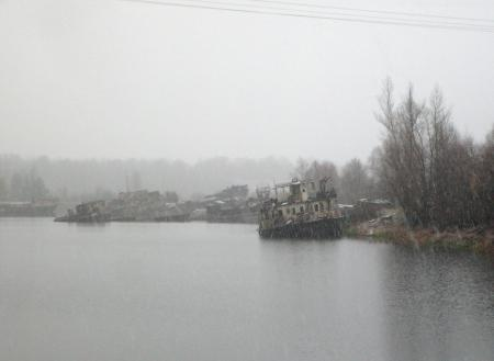 Tchernobyl Pripyat dniepr bateaux