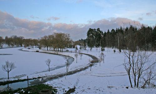 Paysage hivernal près de Minsk