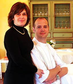 Le chef Fabien Galibert et son épouse