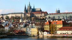 Prague Hradcany vue de la cathédrale et du chateau