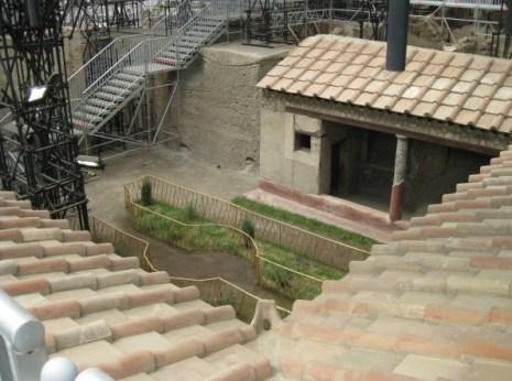 Site aménagé pour le tourisme à Pompéi
