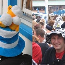 drôles de chapeaux à l'oktoberfest de Munich