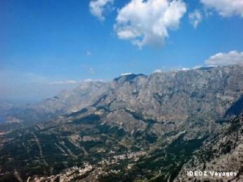 Biokovo vue des montagnes