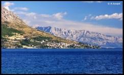Vue du Biokovo et de la riviera de Makarska