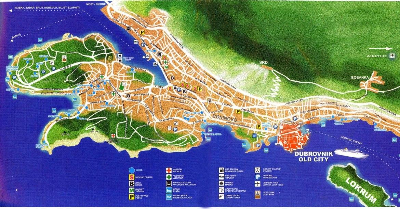 Dubrovnik carte de la ville
