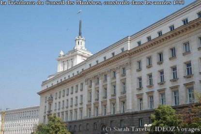 Sofia (Bulgarie) : Présidence du conseil des Ministres