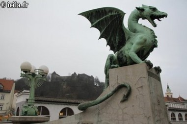Pont du dragon chateau ljubljana