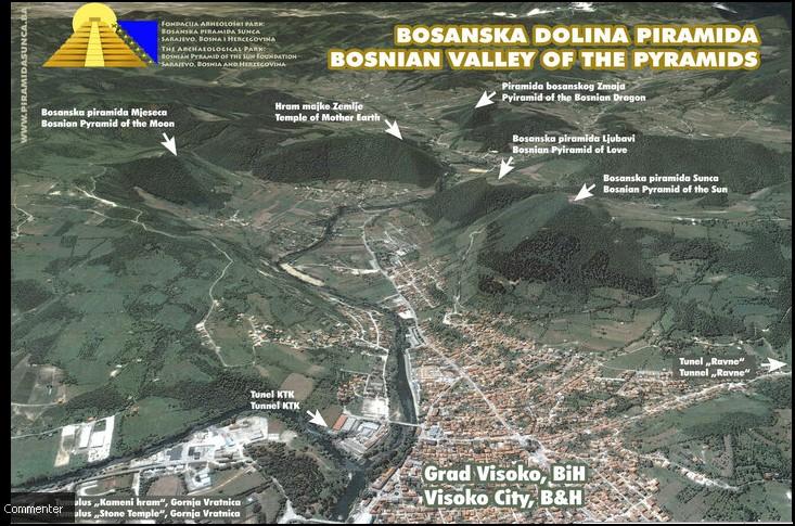 Vallée pyramides Visoko Bosnie