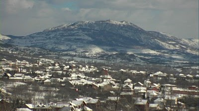 Serbie village sous la neige