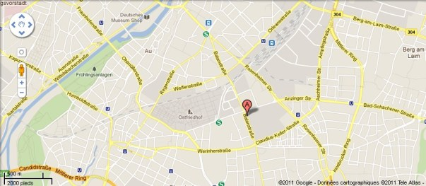 Plan acces Curry73 Munich