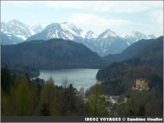 Lac alpsee Vue depuis Neuschwanstein sur Hohenschwangau