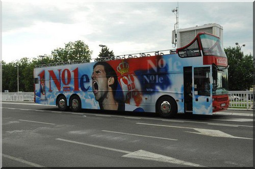 Novak Djokovic bus belgrade