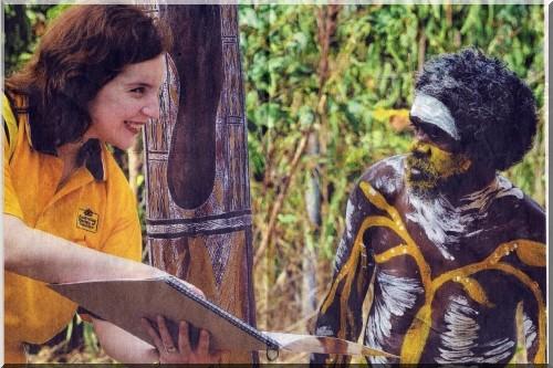 Jill et peter l'aborigene