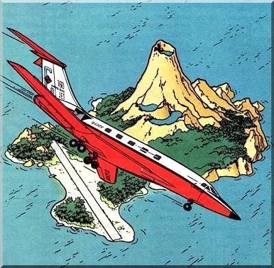 Tintin l'ile noire avion