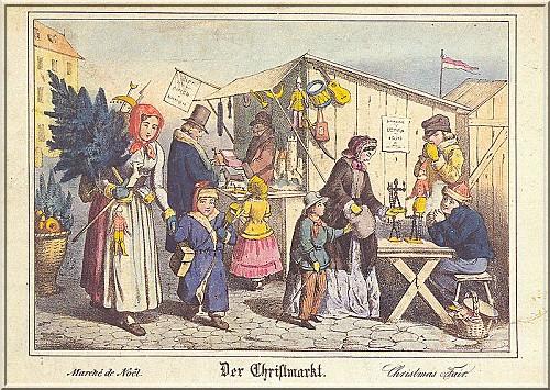 Marche de Noel Nuremberg au XIXe siecle