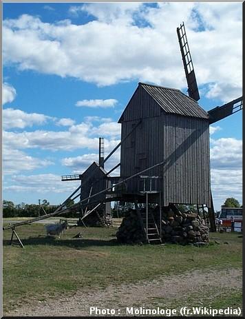 saaremma moulins en bois ile estonie tourisme