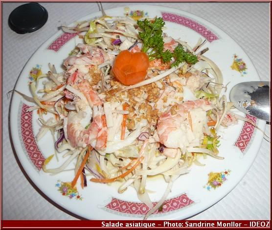 aux delices d'asie salade asiatique