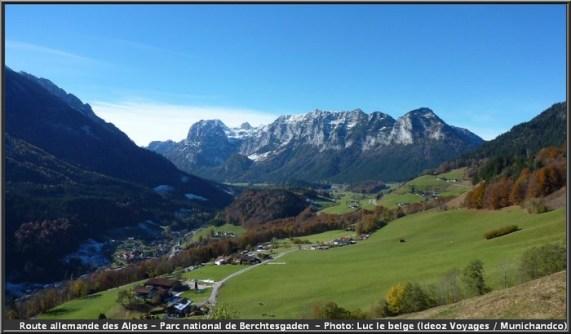 route allemande des alpes ramsau haute baviere