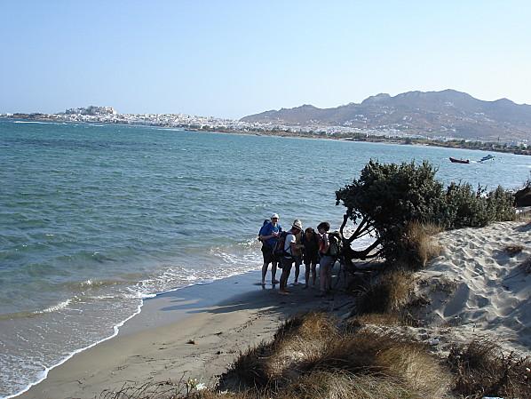Cyclades naxos plage halte