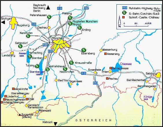 carte lacs de Bavière