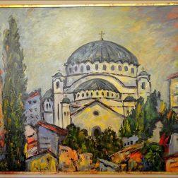 Belgrade temple sveti sava tableau