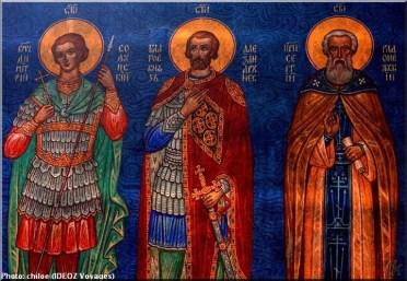 Sainte Nedelja Sofia Bulgarie fresque saints