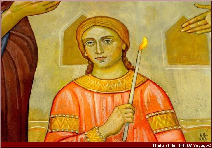 Sainte Nedelja Sofia Bulgarie icone cierge