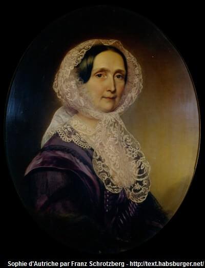 Sophie de Wilhelmine de Wittelsbach, duchesse de baviere et archiduchsesse d'Autriche, mère de francois-joseph 1er empereur d'Autriche