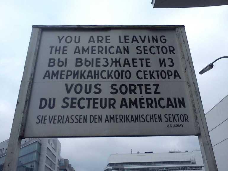 sortie du secteur américain de berlin après 1945