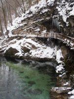 gorges de vintgar slovenie Les stalactites de glace qui se forment l'hiver
