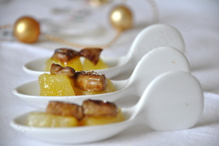 cuilleres des foie gras pomme