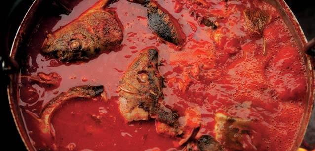 fis paprikas goulasch de poissons en Slavonie