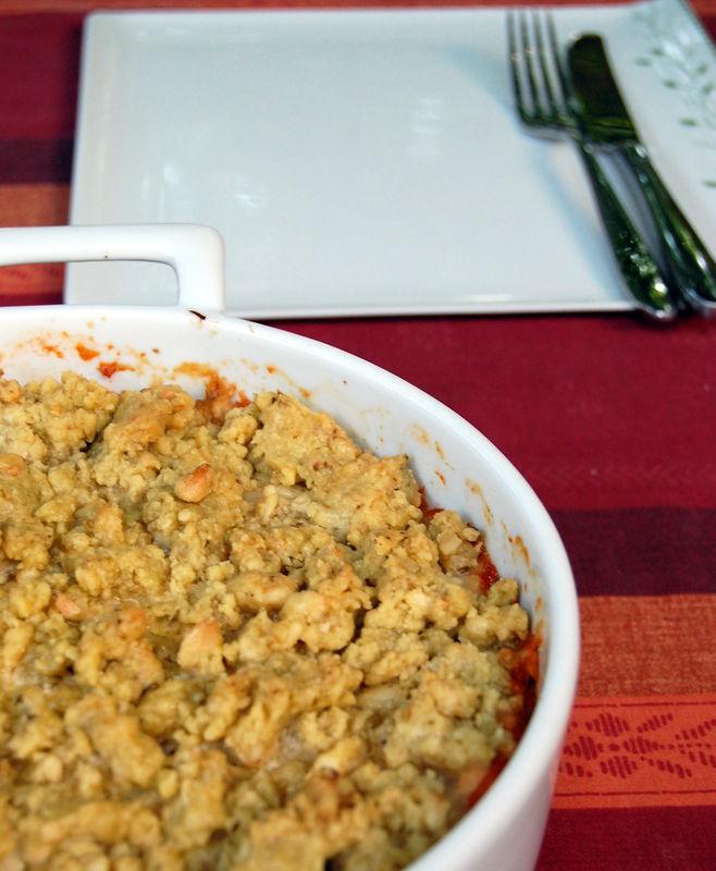 gnocchi à la tomate en croute de pesto