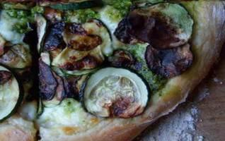 pizza courgettes pesto alla genovese