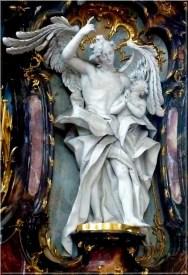 Abbaye Ottobeuren ange et angelot priere