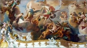 Abbaye Ottobeuren fresques anges combats