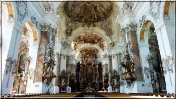 Abbaye Ottobeuren vue interieure