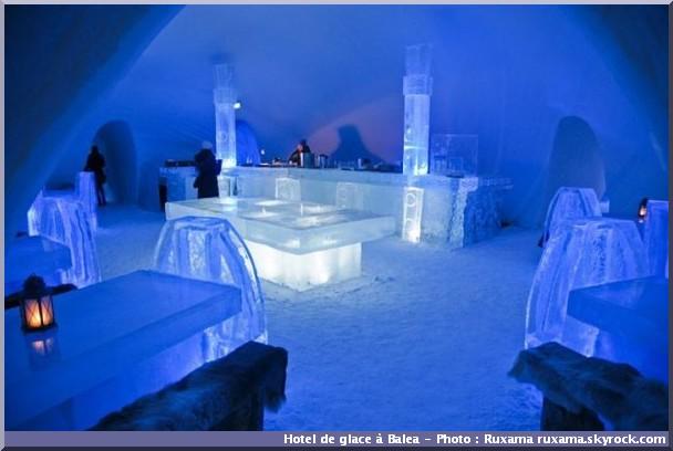 balea hotel de glace comptoir