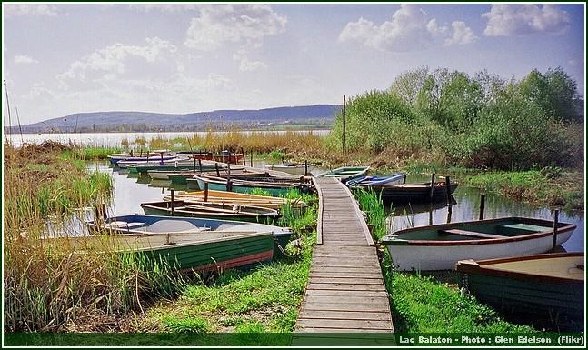 lac balaton hongrie barques