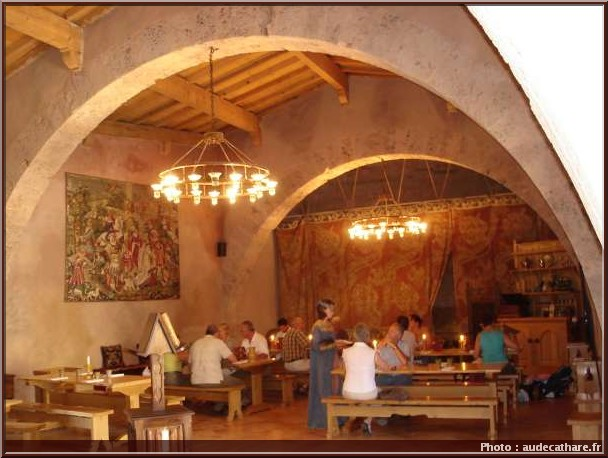 restaurant médiéval Rotisserie mediévale villerouge termenes
