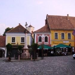 Szentendre maisons de la place centrale