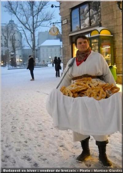 budapest en hiver vendeur bretzel