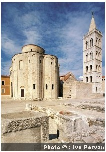 zadar croatie capitale de la dalmatie du nord