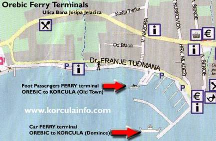 ferry orebic