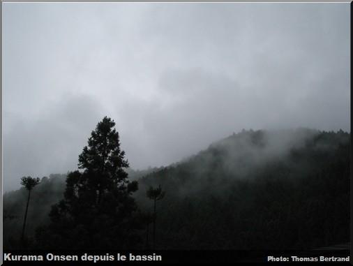 kurama onsen depuis le bassin
